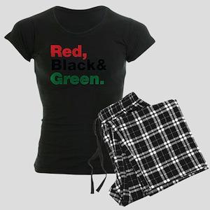Red, Black and Green. Women's Dark Pajamas