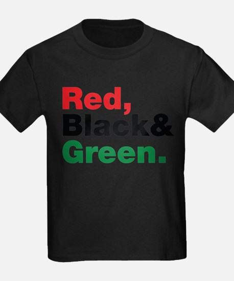 Red, Black and Green. T