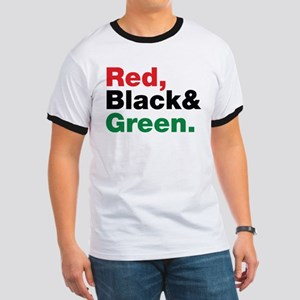 Red, Black and Green. Ringer T
