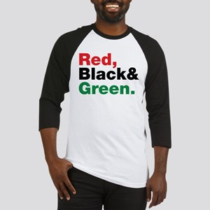 Red, Black and Green. Baseball Jersey