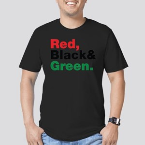 Red, Black and Green. Men's Fitted T-Shirt (dark)