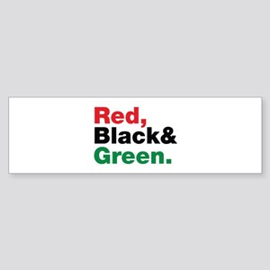 Red, Black and Green. Sticker (Bumper)