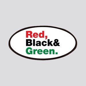 Red, Black and Green. Patches