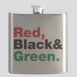 Red, Black and Green. Flask