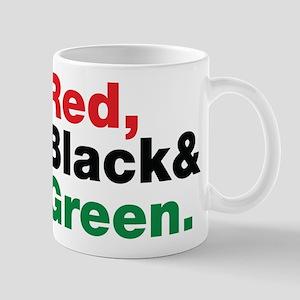 Red, Black and Green. Mug