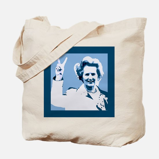 MAGGIE THATCHER VICTORY PRINT Tote Bag