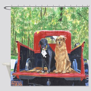 Antique Truck Shower Curtain