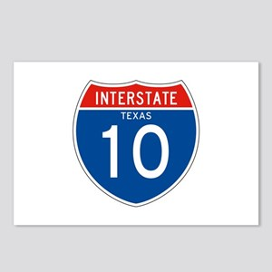 Interstate 10 - TX Postcards (Package of 8)
