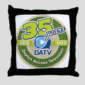 DATV 35th Anniversary Throw Pillow