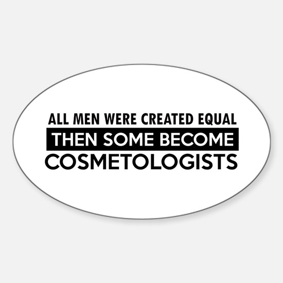 Cosmetologists Designs Sticker (Oval)