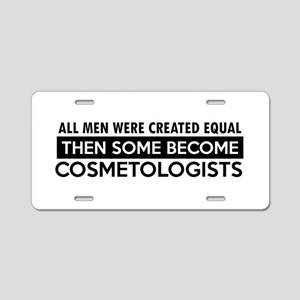 Cosmetologists Designs Aluminum License Plate