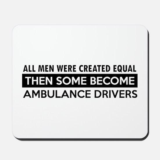 Ambulance Driver Designs Mousepad