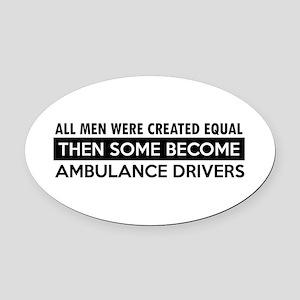 Ambulance Driver Designs Oval Car Magnet