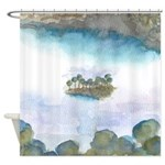 Trees by the Sea 2 Shower Curtain