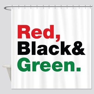 Red, Black and Green. Shower Curtain