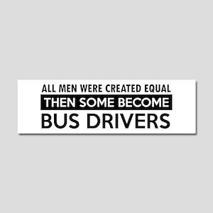 Bus Driver Designs Car Magnet 10 x 3