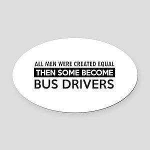 Bus Driver Designs Oval Car Magnet