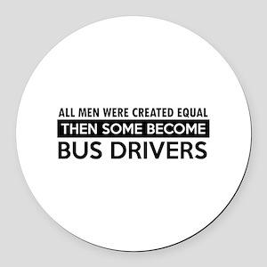 Bus Driver Designs Round Car Magnet