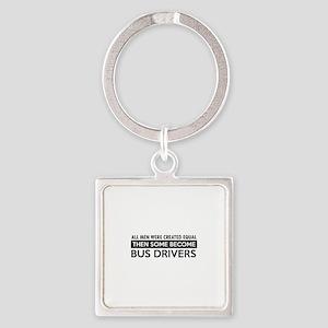 Bus Driver Designs Square Keychain