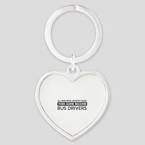 Bus Driver Designs Heart Keychain