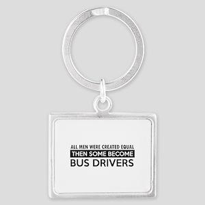 Bus Driver Designs Landscape Keychain