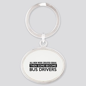 Bus Driver Designs Oval Keychain