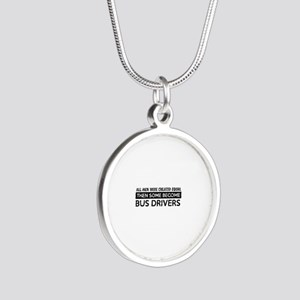 Bus Driver Designs Silver Round Necklace