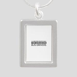 Bus Driver Designs Silver Portrait Necklace