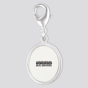 Bus Driver Designs Silver Oval Charm