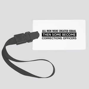 Correction Officers Designs Large Luggage Tag