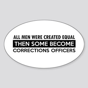 Correction Officers Designs Sticker (Oval)