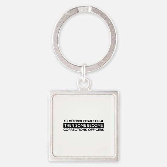 Correction Officers Designs Square Keychain