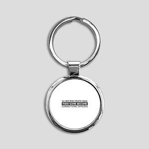 Correction Officers Designs Round Keychain
