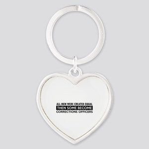 Correction Officers Designs Heart Keychain