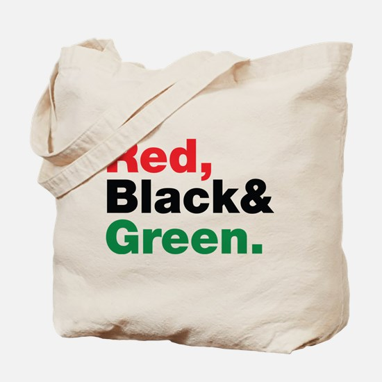 Red, Black and Green. Tote Bag