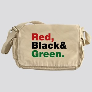 Red, Black and Green. Messenger Bag