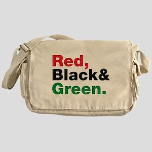 Red, Black and Green. Messenger Bag