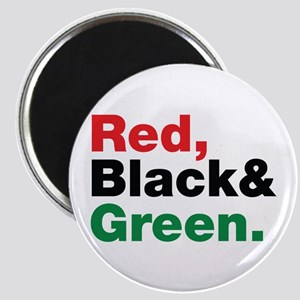 Red, Black and Green. Magnet
