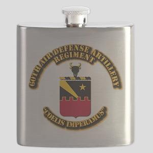 COA - 60th ADA Regiment Flask