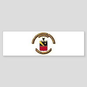 COA - 60th ADA Regiment Sticker (Bumper)