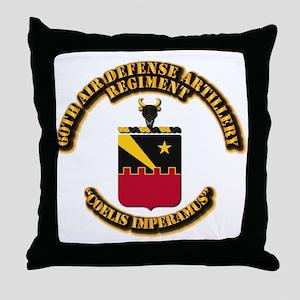 COA - 60th ADA Regiment Throw Pillow
