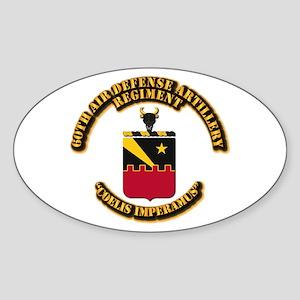 COA - 60th ADA Regiment Sticker (Oval)