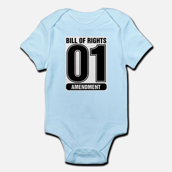 01 Jersey Number B&W Infant Bodysuit