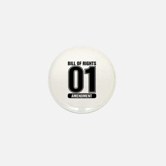01 Jersey Number B&W Mini Button