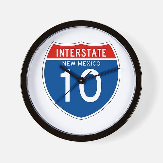 Interstate 10 - NM Wall Clock