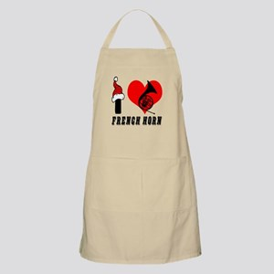 I Love French Horn Apron