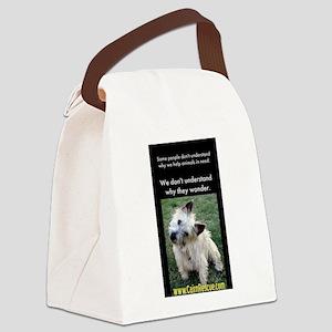 Wonders wondering Canvas Lunch Bag