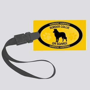 Border Collie On Board Large Luggage Tag