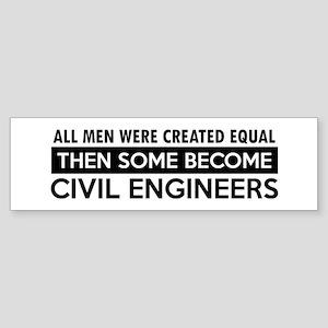 Civil Engineers Designs Sticker (Bumper)