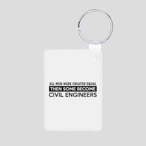 Civil Engineers Designs Aluminum Photo Keychain